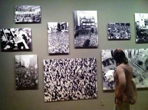 Fotos de manifestações contra a ditadura, em diferentes cidades do país