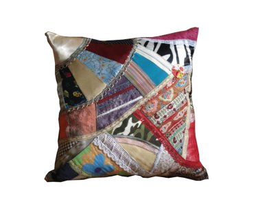 zizi anil - almofada de patchwork - R$ 45,00
