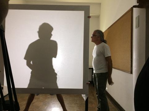 Helio Rodrigues e aluno